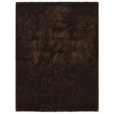 vidaXL Shaggy matta 80x150 cm brun