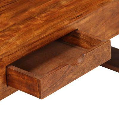 vidaXL Soffbord massivt akaciaträ 100x50x30 cm brun