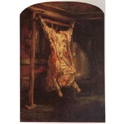 The Carcass of Beef,Rembrandt Peale,60x40cm