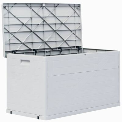 vidaXL Dynbox 420 liter ljusgrå