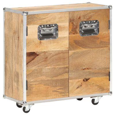 vidaXL Skänk med 2 dörrar 70x30x69 cm massivt mangoträ