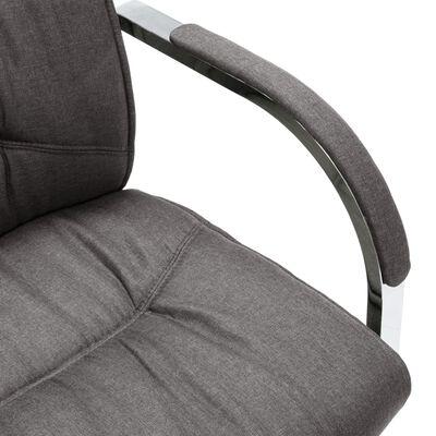 vidaXL Fribärande kontorsstol grå tyg
