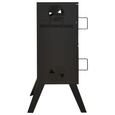 vidaXL Rökugn 55x47,5x100,5 cm stål