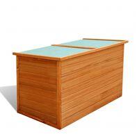 vidaXL Dynbox 126x72x72 cm trä