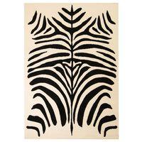 vidaXL Modern matta zebradesign 80x150 cm beige/svart