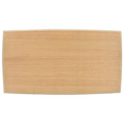vidaXL Soffbord grå och brun 110x60x40 cm massiv furu