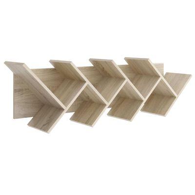 FMD Vägghylla geometrisk ek
