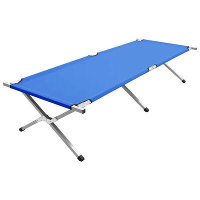 vidaXL Campingsäng 210x80x48 cm XXL blå