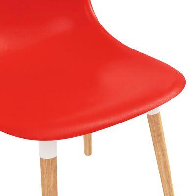 vidaXL Matstolar 4 st röd plast