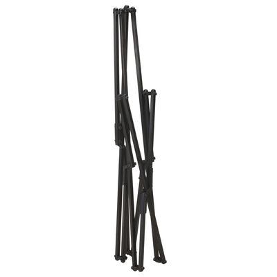 vidaXL Hopfällbar fladdermusfåtölj svart äkta läder, Black