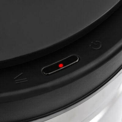 vidaXL Soptunna med automatisk sensor 70 L rostfritt stål