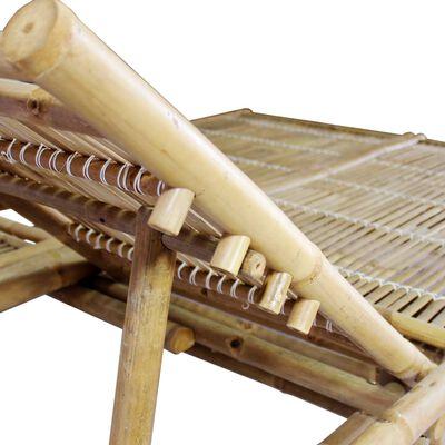 vidaXL Solsäng 2 personer bambu