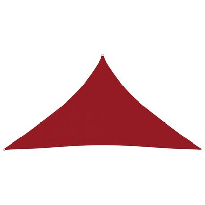 vidaXL Solsegel oxfordtyg trekantigt 5x6x6 m röd
