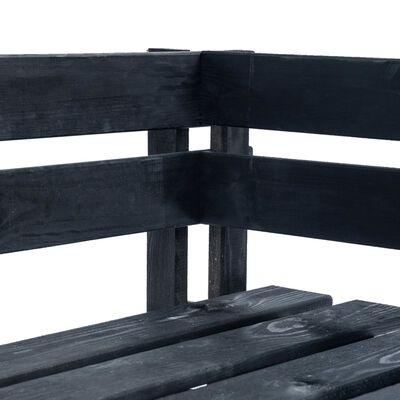 vidaXL Pallsoffa hörn för trädgården trä svart