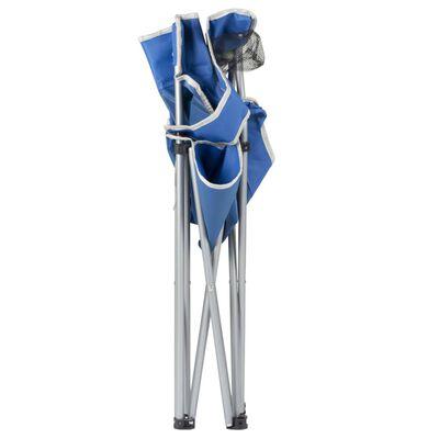 Bo-Camp Hopfällbar campingstol blå stål 1267188