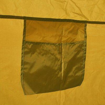 vidaXL Dusch-/WC-/omklädningstält gul