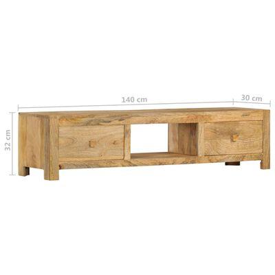 vidaXL TV-bänk 140x30x32 cm massivt mangoträ