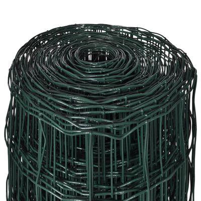 vidaXL Eurofence stål 10 x 1,2 m grön