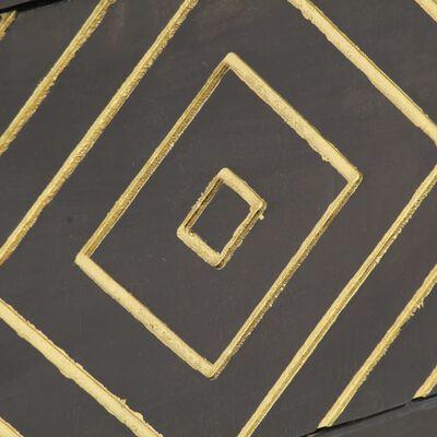 vidaXL TV-bänk svart och guld 120x30x40 cm massivt mangoträ