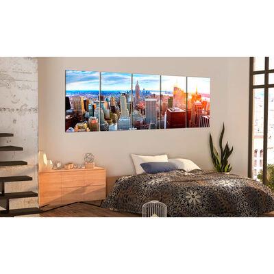 Tavla - New York: Sunrise - 200x80 Cm