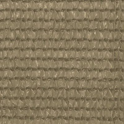 vidaXL Balkongskärm taupe 75x500 cm HDPE