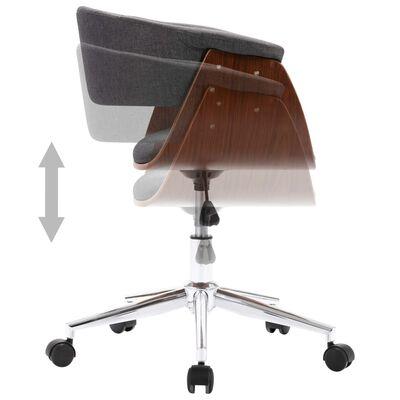vidaXL Snurrbara matstolar 4 st grå tyg