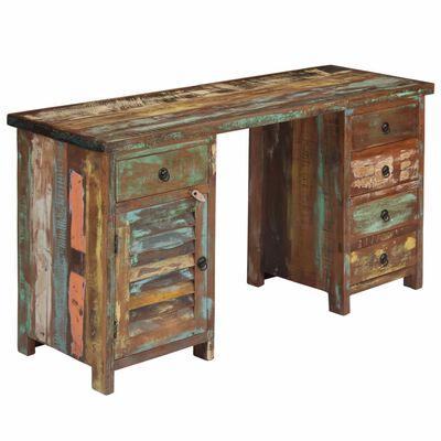 vidaXL Skrivbord massivt återvunnet trä 140x50x77 cm