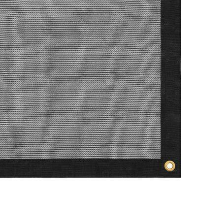 vidaXL Containernät HDPE 3,5x7 m svart