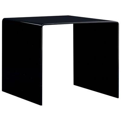 vidaXL Soffbord svart 50x50x45 cm härdat glas
