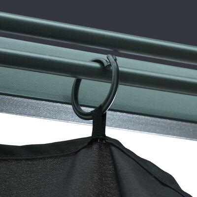 vidaXL Paviljong med gardiner 300x300 cm antracit aluminium
