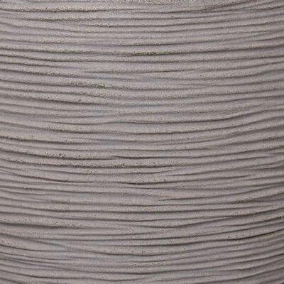 Capi Fyrkantig odlingslåda Nature Rib 40x40 cm grå KGRR903