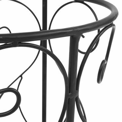 vidaXL Paraplyställ vintage stil metall 26x46 cm svart