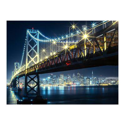 Fototapet - Bay Bridge På Natten - 300x231 Cm