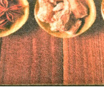 vidaXL Köksmatta maskintvättbar skedar 60x300 cm