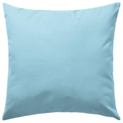 vidaXL Prydnadskuddar för trädgården 4 st 45x45 cm ljusblå