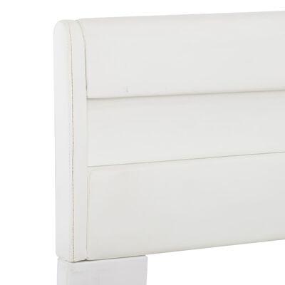 vidaXL Sängram med LED vit konstläder 180x200 cm