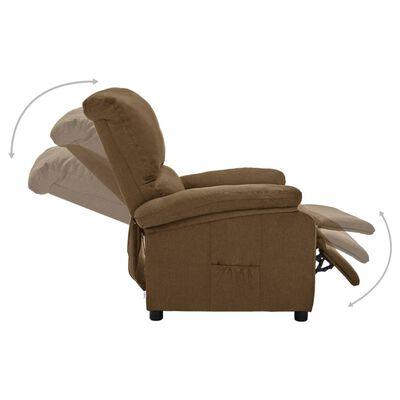 vidaXL Elektrisk reclinerfåtölj taupe tyg