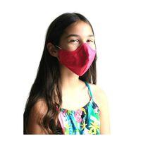 Ceris rosa tvättbart mun-/nässkydd, barn och vuxna. Munskydd-XXS