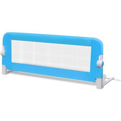 vidaXL Sängskena för barnsäng 102 x 42 cm blå