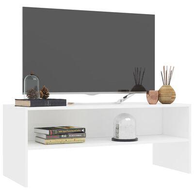 vidaXL TV-bänk vit 100x40x40 cm spånskiva