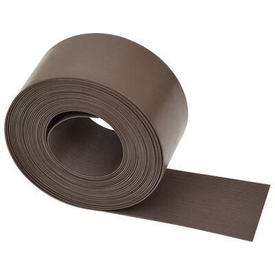 vidaXL Rabattkant brun PE 10 m 10 cm