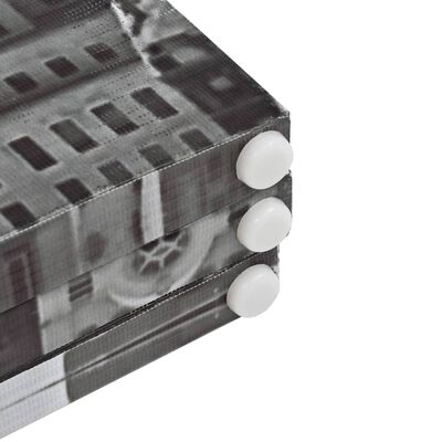 vidaXL Hopfällbar rumsavdelare New York i dagtid 200x170 cm svart/vit
