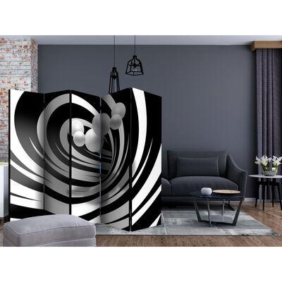 Rumsavdelare - Twisted In Black & White Ii   - 225x172 Cm