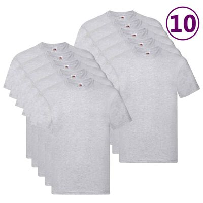 Fruit of the Loom Original T-shirt 10-pack grå stl. XXL bomull