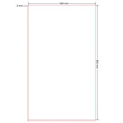 vidaXL Affischtavlor 10 st strl DIN A1 HDF 841x594x3 mm
