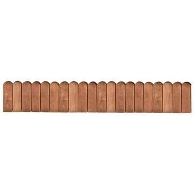vidaXL Rabattkant brun 120 cm impregnerad furu