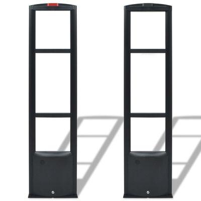 vidaXL RF Larmbågar med sändare och mottagare 8,2 MHz svart