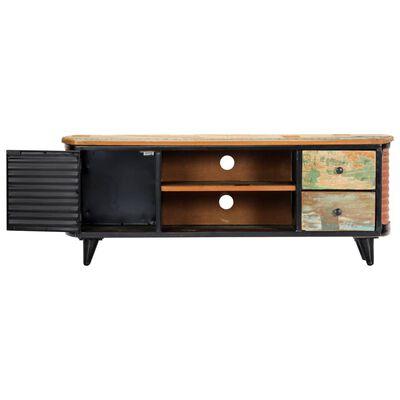 vidaXL TV-bänk 120x30x45 cm massivt återvunnet trä