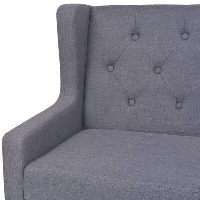 vidaXL Fåtölj grå tyg