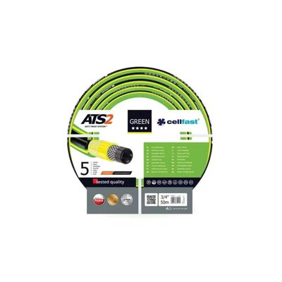 "Cellfast Trädgårdsslang ATS2 3/4"" 50m grön"